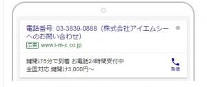 Googleアドワーズ 電話専用広告